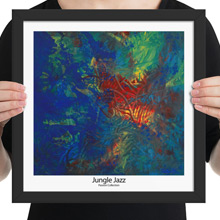 Jungle Jazz framed print from Todd Peterson's Passion Collection